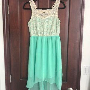 Mint/lace dress
